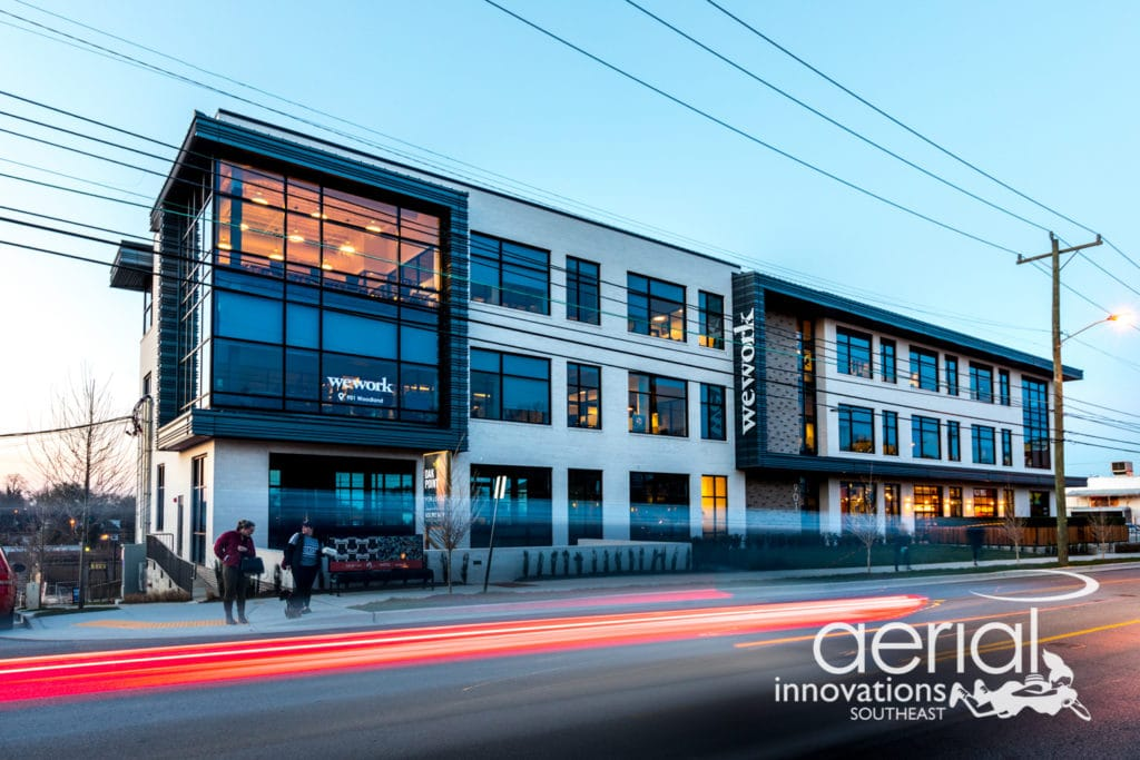 The Wabash in Nashville, TN - exterior photograph by Aerial Innovations Southeast