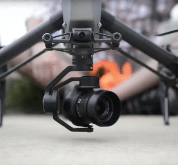 Camera Attached to drone while on the ground