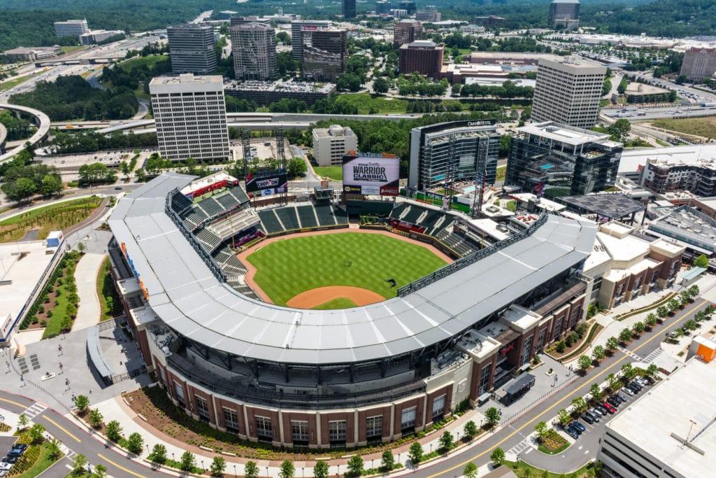 SunTrust Park in Atlanta, GA - Aerial Photography